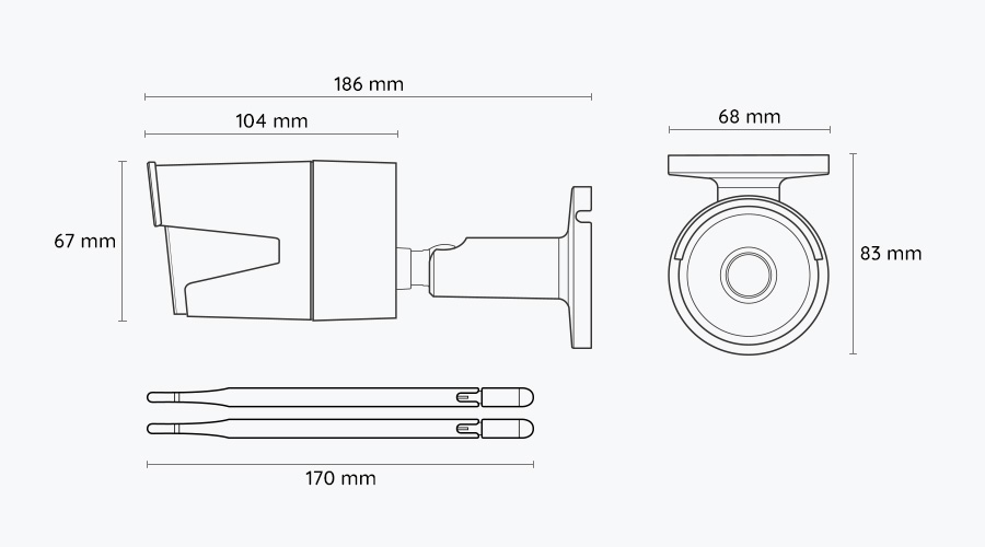 Reolink RLC-410W dimenzije