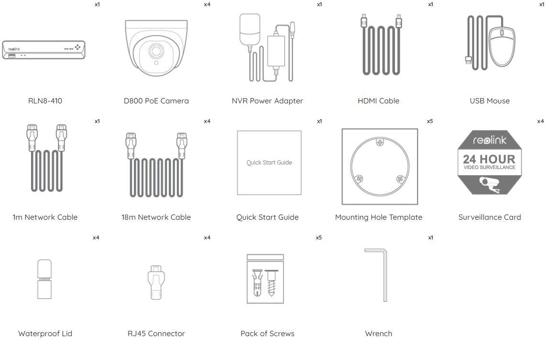 Reolink RLK8-800D4 – sadržaj kutije