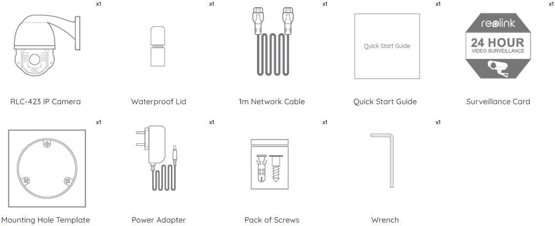 Reolink RLC-423 - sadržaj kutije